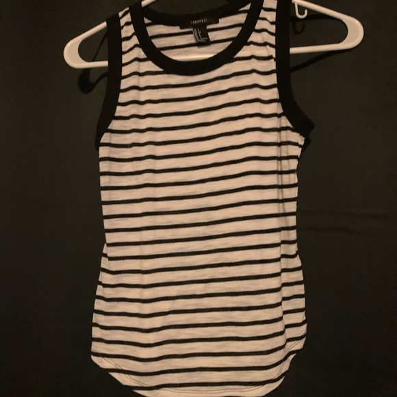 b&w striped tank